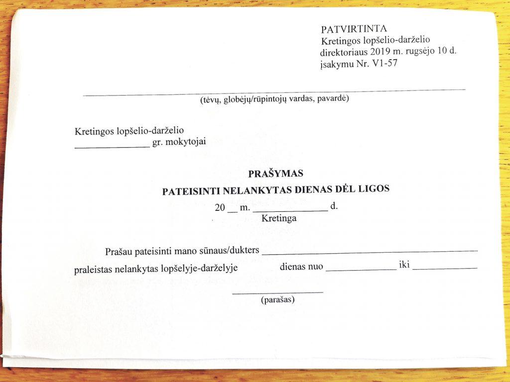 Pažymų, kuriomis iki šiol buvo pateisinamas vaiko ar mokinio neatvykimas į ugdymo įstaigą, medikai nebeišrašo nuo mokslo metų pradžios.