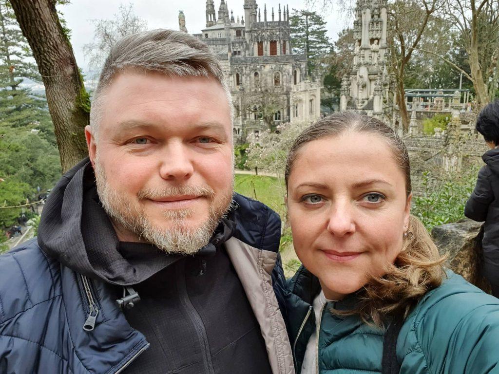 Žydrūną Drazdą čempionato kovose palaikė žmona Auksė, jį atlydėjusi net į Portugaliją. Asmeninio archyvo nuotr.