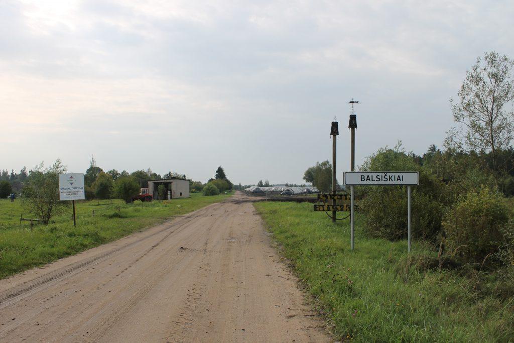 Balsiškių kaimo gatvė. Juliaus Kanarsko nuotr., 2014 m.