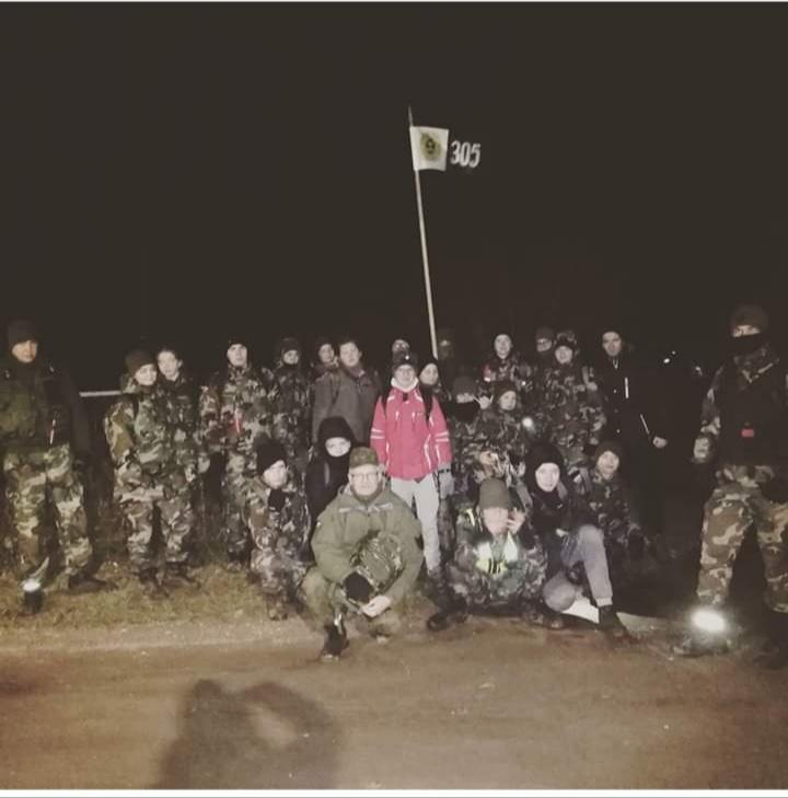 Devynioliktajį kartą vykusiame naktiniame žygyje Klaipėdos sukilėlių keliais dalyvavo daugiau nei dvi dešimtys jaunųjų Kretingos šaulių.