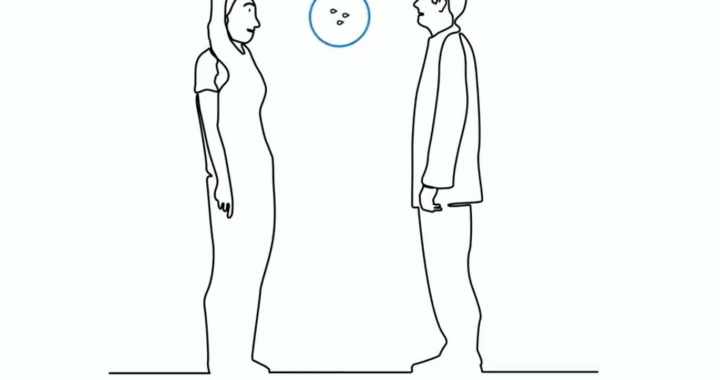 Bendraujant su kitu žmogumi būtina išlaikyti saugų atstumą, kad koronaviruso lašeliai - jeigu jų yra - neužkristų ant jūsų ir neįsiskverbtų į organizmą.