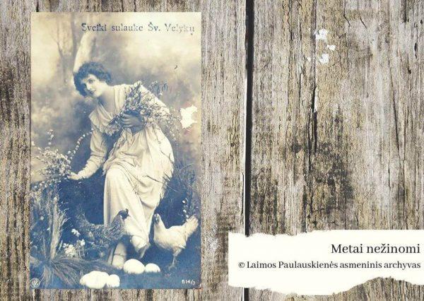 Mergina tarp gėlių ar jaunuolis su žydinčiomis šakelėmis rankose – prieš 90 metų, regis, buvo įprastas reginys mūsų protėviams. Gal lyčių lygybė tada buvo natūralesnė, nei dabar? Vidos Taujenienės, 1934 m., Laimos Paulauskienės asmeninių archyvų nuotr.
