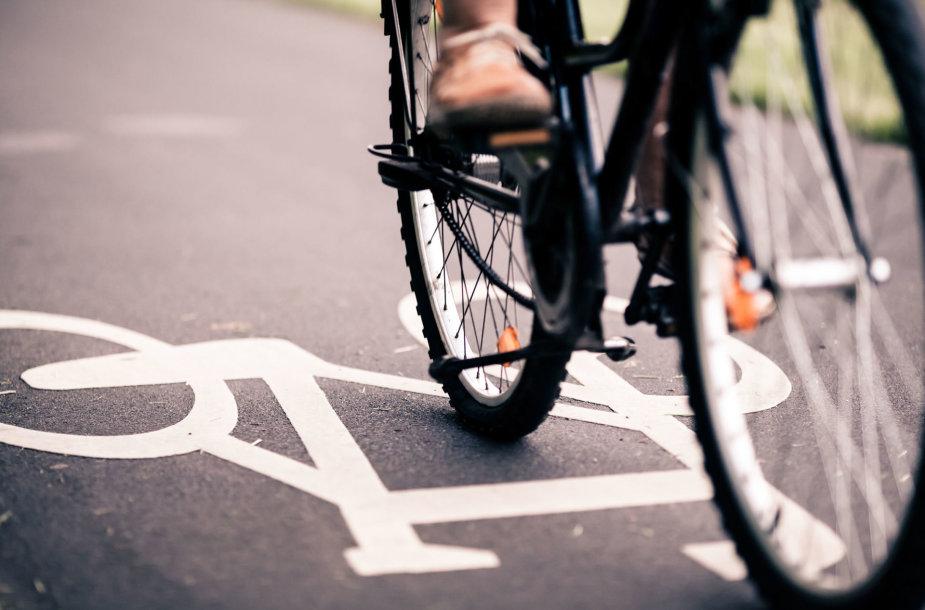 Automobilio vairuotojas Kluonaliuose sužalojo dviratininką ir pasišalino iš įvykio vietos. Asociatyvi 123RF.com nuotr.