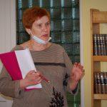 """""""Kretingos profesinėje mokykloje pertvarka nevyksta"""", - ne vieną sykį susitikimo metu pakartojo įstaigos direktorė Zita Mockienė. Autorės nuotr."""