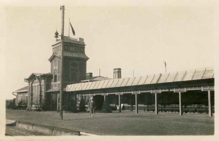 Kretingos geležinkelio stotis tarpukariu.
