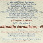 """Laikraštis """"Švyturys"""" ieško aktualijų žurnalisto. Motyvacinį laišką rašykite redaktorius@svyturiolaikrastis.lt"""