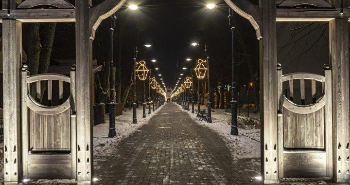 Grafų Tiškevičių alėja žiemą. Vitalijaus Janušonio nuotrauka.
