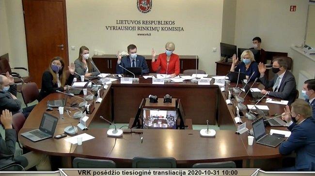 Vyriausoji rinkimų komisija šeštadienį patvirtino naujojo Seimo narių sąrašą.