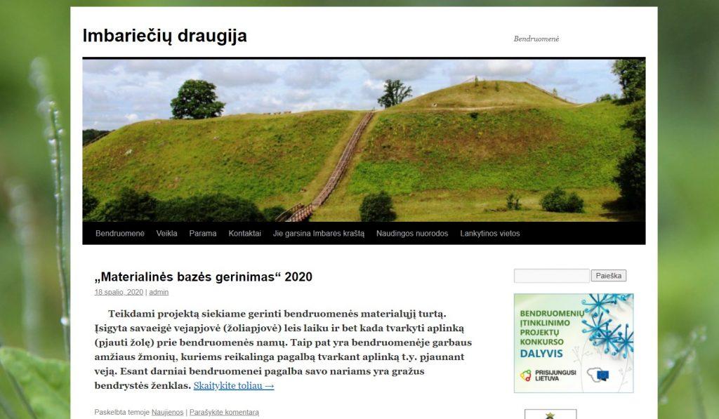 Tapusi viena iš projekto laimėtojų, Imbariečių draugija gavo galimybę sukurti savo internetinę svetainę. Organizatorių nuotr.