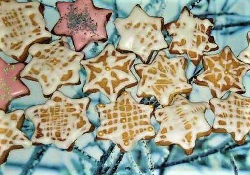 Imbieriniai meduoliniai sausainiai.