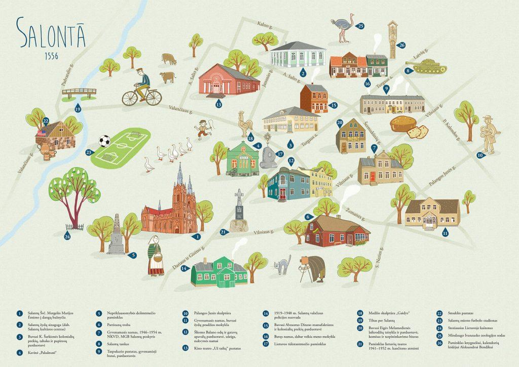 Pieštinis Salantų žemėlapis.