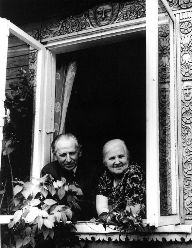 Juozas Lukauskas su žmona Petronėle.