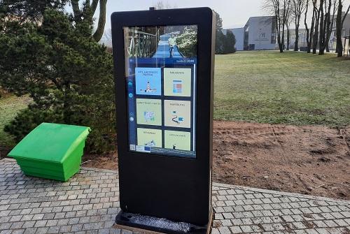 Šalia Kretingos turizmo informacinio centro įrengtas interaktyvus informacinis stendas.