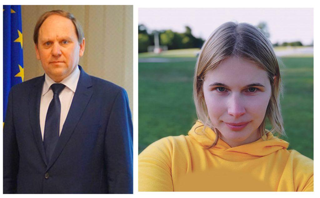 """Savivaldybės administracijos direktoriaus pavaduotoją nepartinį Povilą Černeckį planuoja pakeisti socdemė Violeta Turauskaitė. """"Švyturio"""" foto koliažas."""