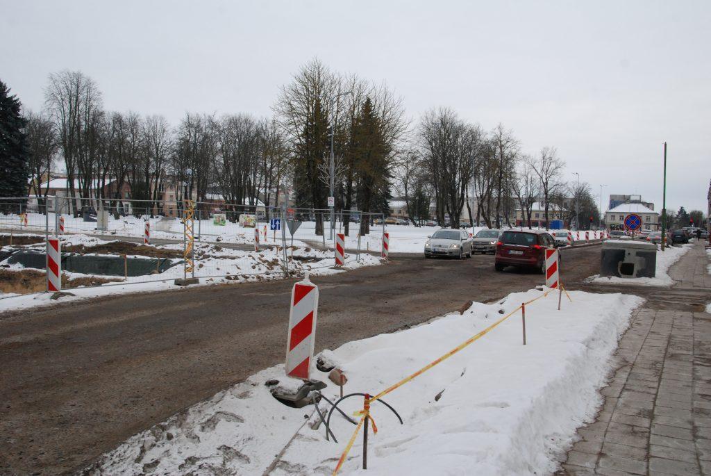 Valstybės kontrolė pagyrė Kretingą už bendradarbiavimą su Kelių direkcija, rekonstruojant Vilniaus g. Aisto Mendeikos nuotr.