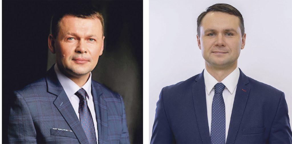 """Virginijaus Domarko paliktą tuščią vietą Taryboje užims Tomas Abelkis, bet apie ją svarstė ir Rimvydas Šakinis. """"Švyturio"""" fotokoliažas."""
