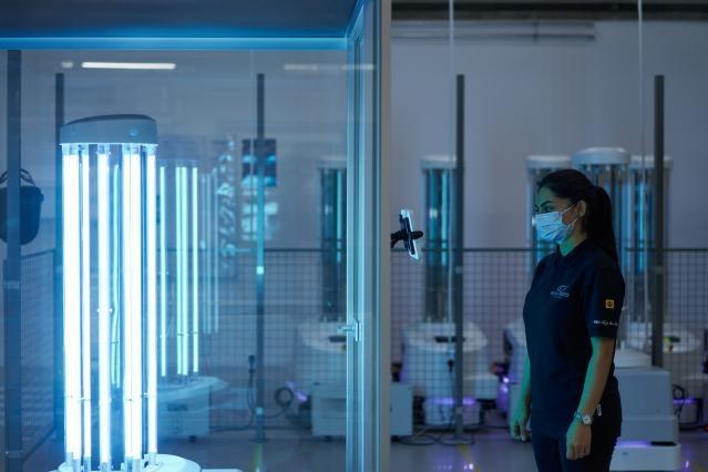Šiandien į Lietuvą atkeliauja pirmasis dezinfekcinis robotas.