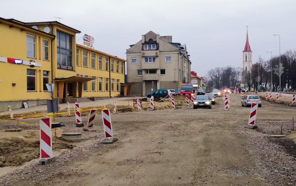 Vilniaus gatvės rekonstrukciją žadama baigti iki birželio pabaigos.  Kretingos rajono savivaldybės nuotr.