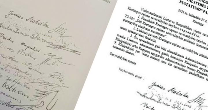 Štai dėl šių 14-os parašų meras Antanas Kalnius kreipėsi į prokuratūrą.