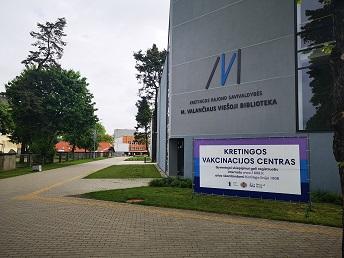 Kretingos rajono savivaldybės vakcinacijos centras. Kretingos rajono savivaldybės nuotr.