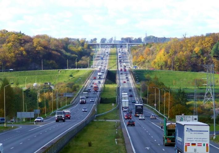 A1 magistralė ties Kaunu. Tocekas nuotr.