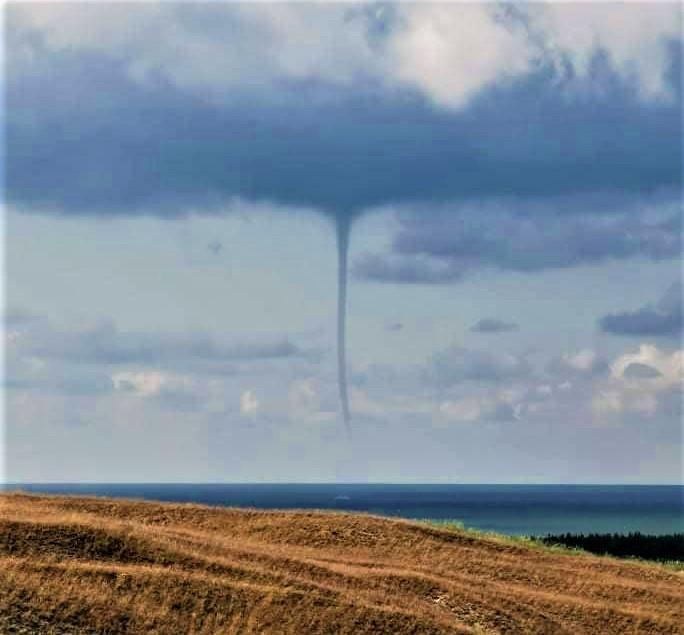 Šiandien virš Baltijos jūros užfiksuotas viesulas. Stasio Šimkaus nuotr.