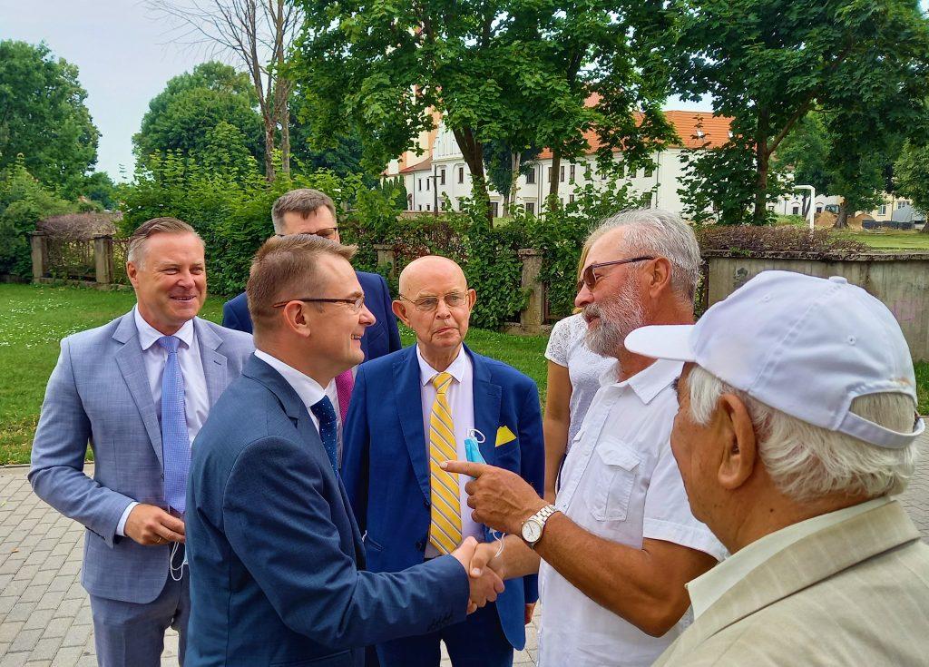 Ministras Arūnas Dulkys ketvirtadienį apsilankė Kretingoje. Autorės nuotr.
