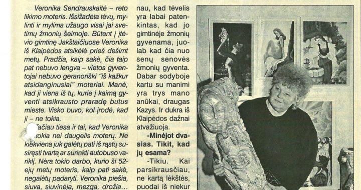 """Vėronika Sendrauskaitė. """"Švyturys"""", 2004 m. balandžio 24 d. Gintauto Maciaus nuotr."""