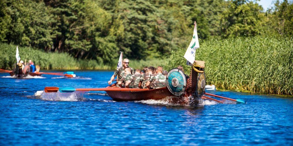 vikingu laivas sventosios upe