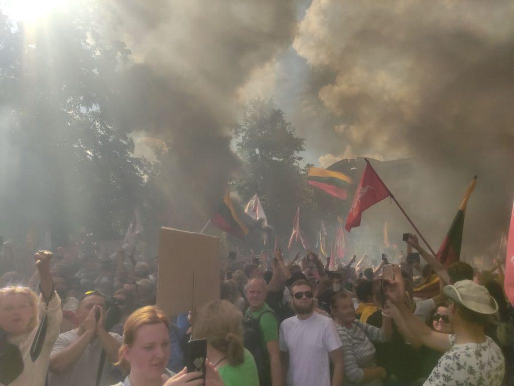 Rugpjūčio 10 d. Vilniuje. Mitingo dalyvio nuotr.