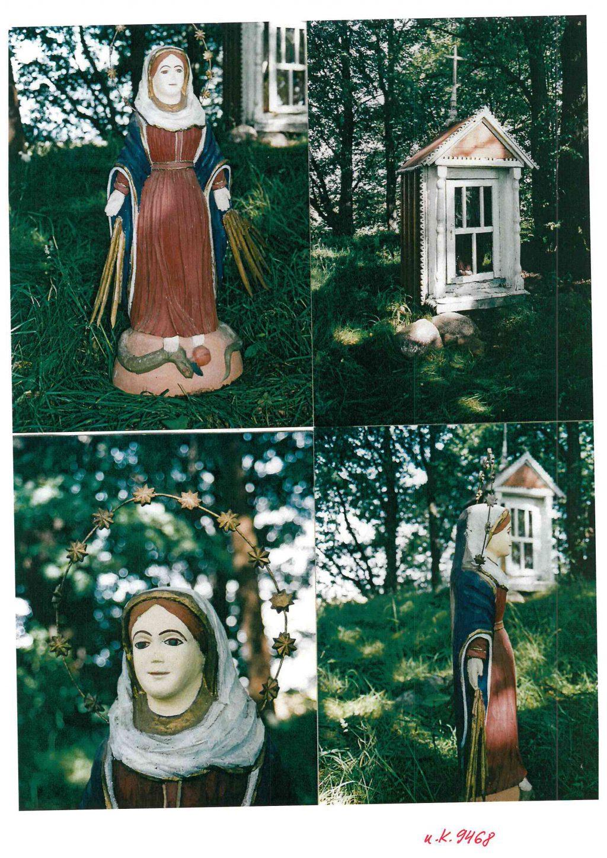 Štai taip atrodė Auksūdžio koplytėlės Marijos maloningosios skulptūrėlė. KPD nuotr.