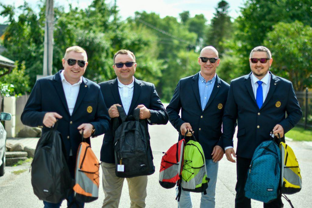 Kretingos Rotary Klubo broliai (iš kairės): Mindaugas Mickus, Tomas Jurgutis, Romas Valinskis, Egidijus Putkalis.