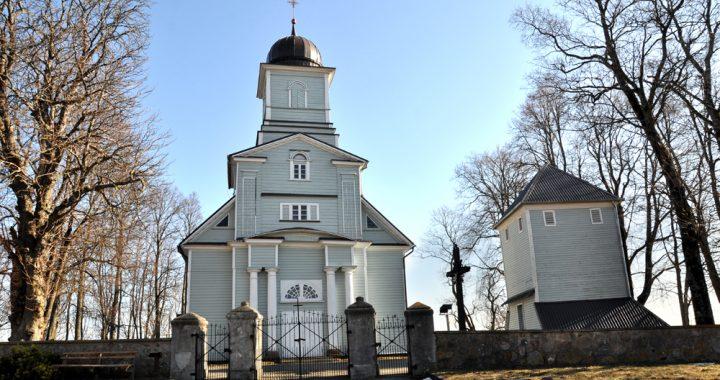 Boleslovas Lašas klebonavo šioje Laukžemės Šv. apaštalo Andriejaus bažnyčioje.