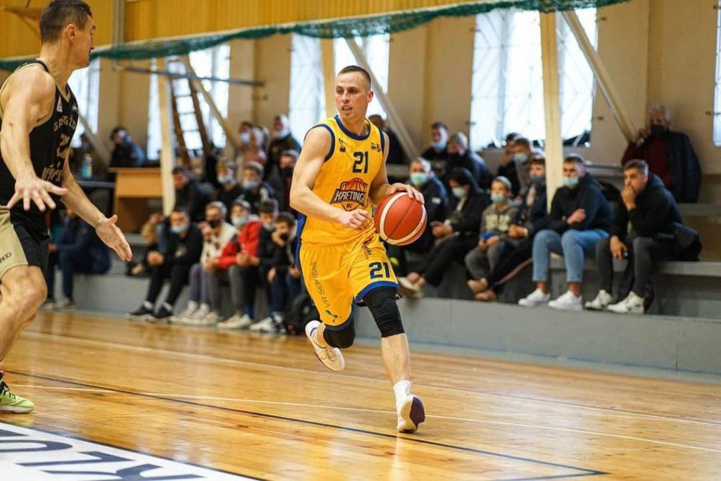 Aidas Viskontas rungtynėse Vilniuje išsiskyrė solidžiu žaidimu. NKL nuotr.
